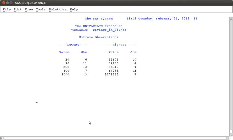 SAS Chapter 2 - Basic Statistical Procedures